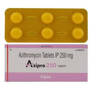Azipro 250 - Azithromycin - Cipla, India