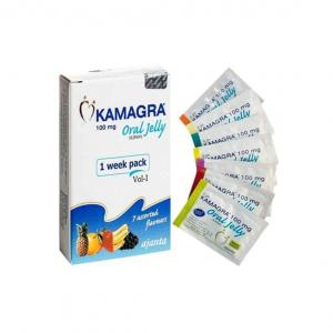 Kamagra Oral Jelly Vol 1 - Sildenafil Citrate - Ajanta Pharma, India