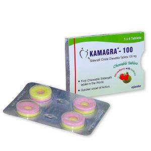 Kamagra Polo 100 - Sildenafil Citrate - Ajanta Pharma, India