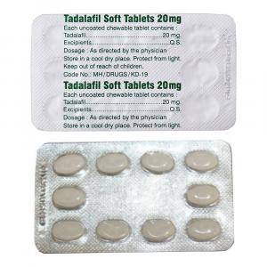 Tadalafil Soft 20 mg - Tadalafil - Aurochem Laboratories (I) Pvt. Ltd, India